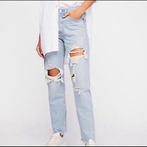 Levi's Premium Wedgie Distressed High Rise Jean